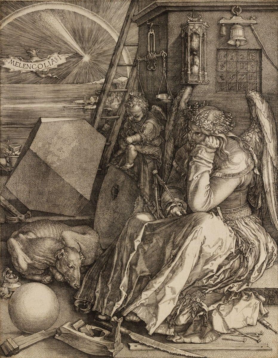 Albrecht Dürer: Melankolia, 1514.